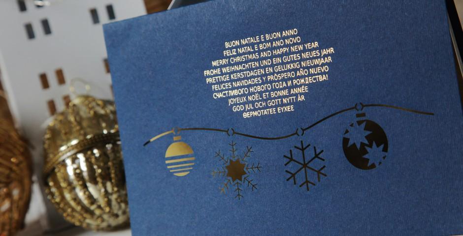 Biglietto laser Natale
